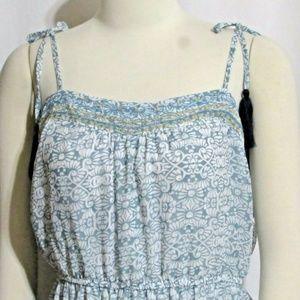 NWT Ladies KNOX ROSE Blue & White Sun Dress Large